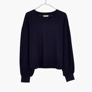 NWT Madewell Chord Bubble Sleeve Top
